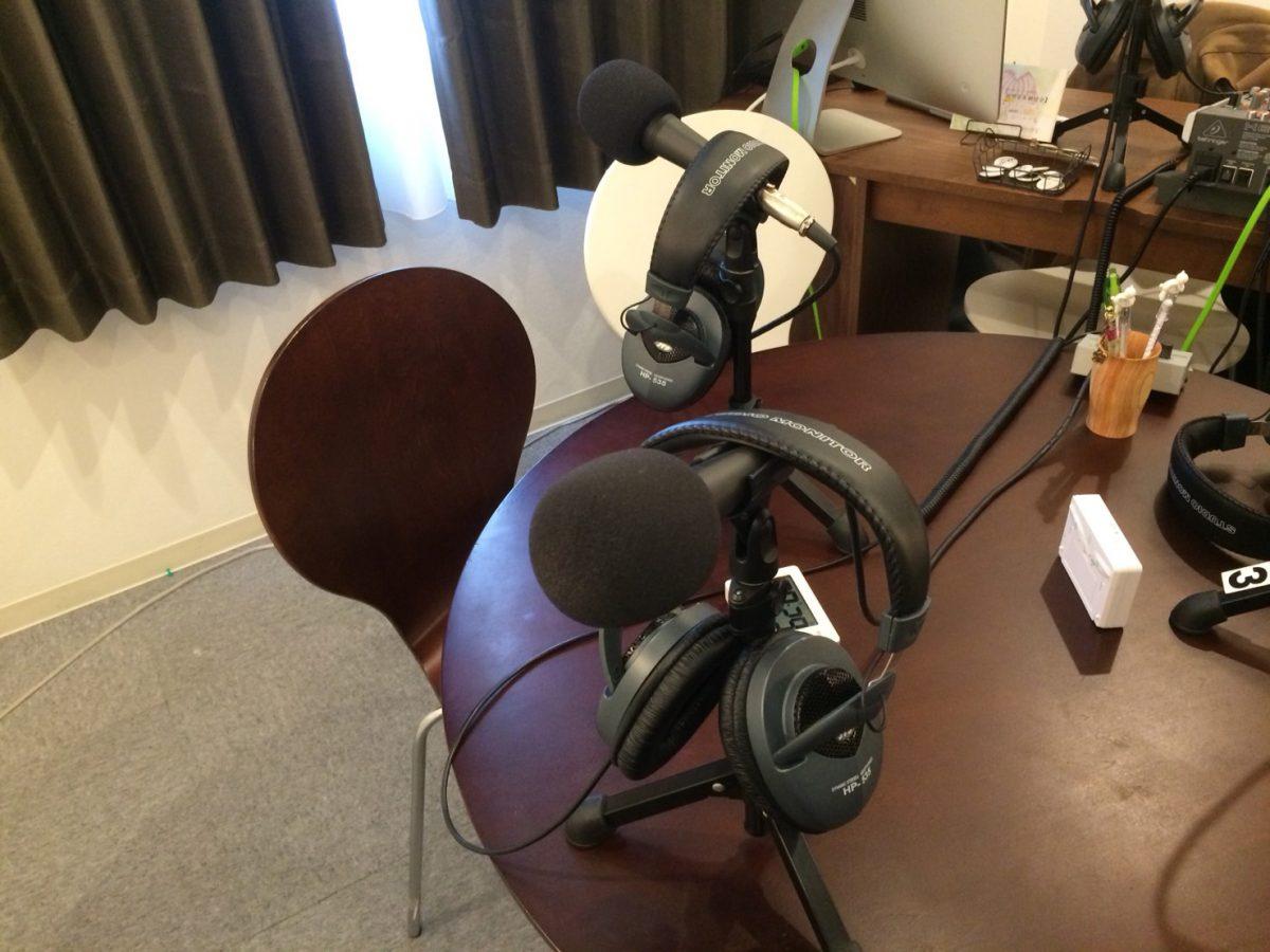 ブルーローズラジオの収録