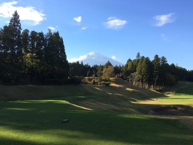 富士山の見える素晴らしいコースです。