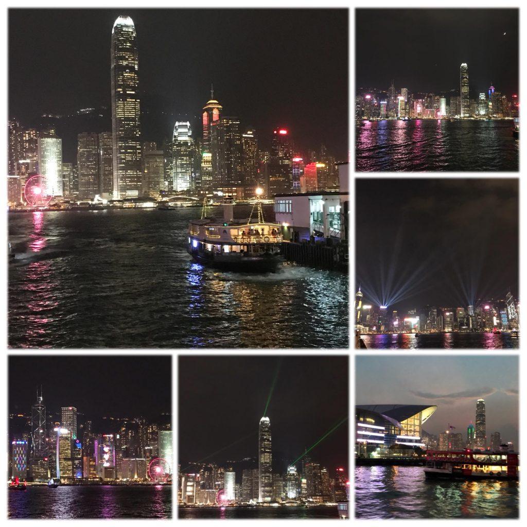 香港の夜景とシンフォニー・オブ・ライツ