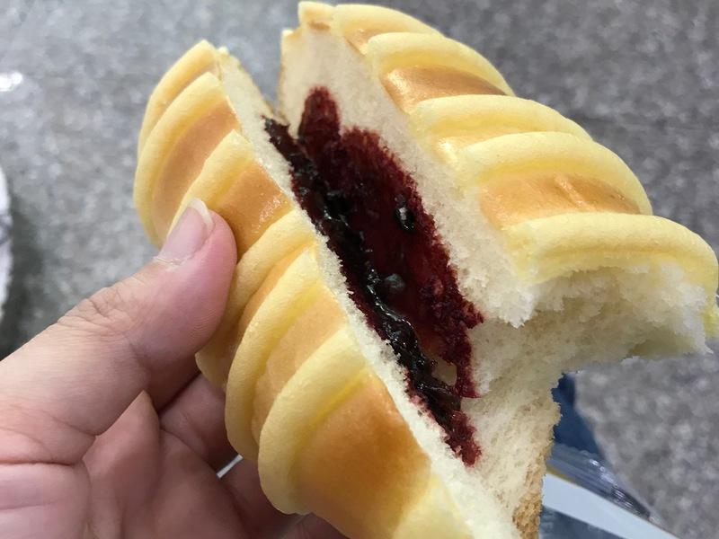 ラズベリーのパン