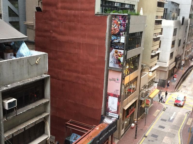 ホテルからみる香港の街並み