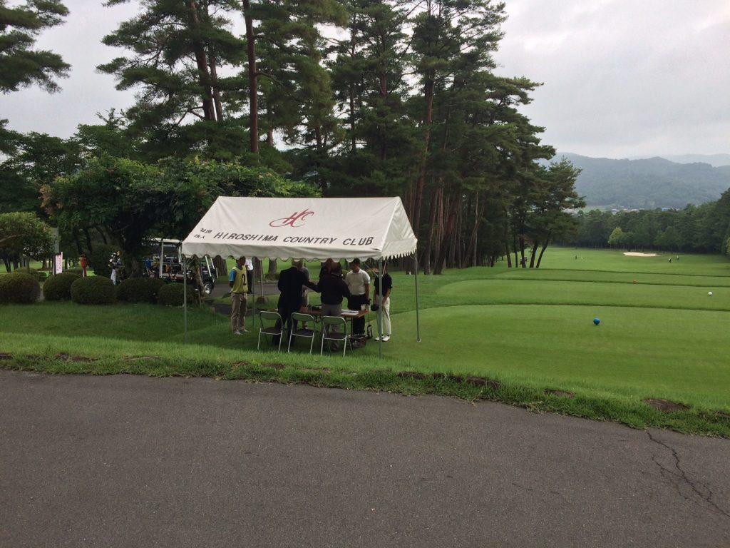 息子のゴルフの試合