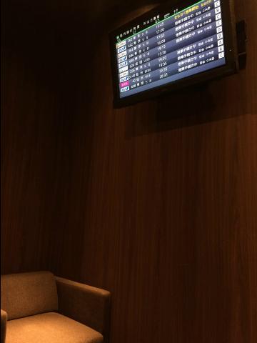 広島空港のラウンジ内