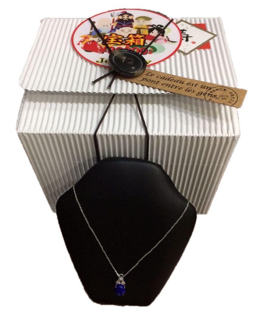 18KWGダイヤ入りラピスラズリの宝箱